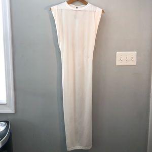 ASOS Cream/White Sleeveless MIDI Dress Sz 10